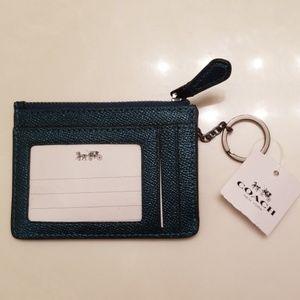 NWT Coach Mini ID coin keychain